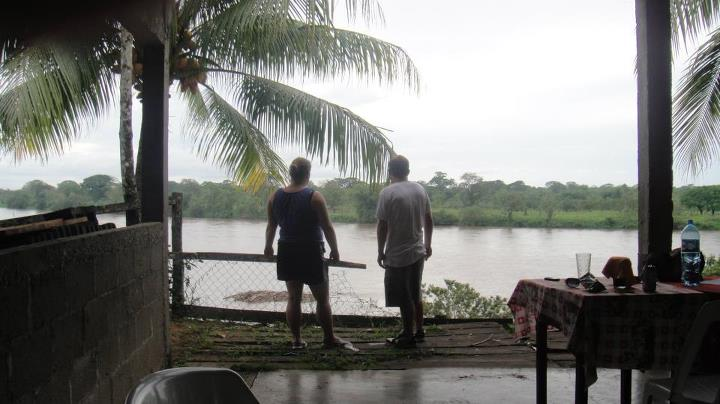 We are on the Nica side of Rio Coco, across the river is Honduras.