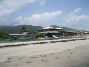 Restaurants in the Garifuna town of Sambo Creek